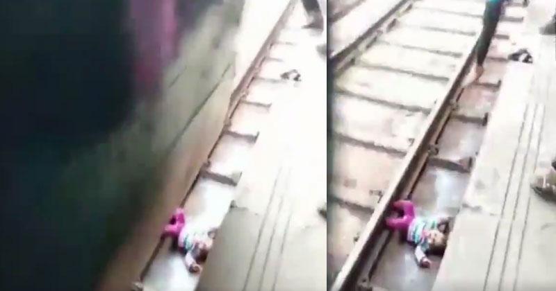 baby-Girl-under-train