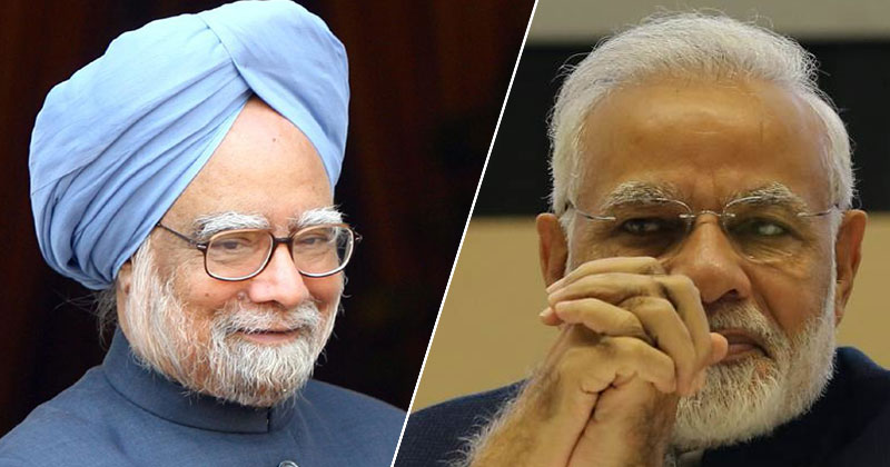 Dr. Manmohan Singh and PM Narendra Modi