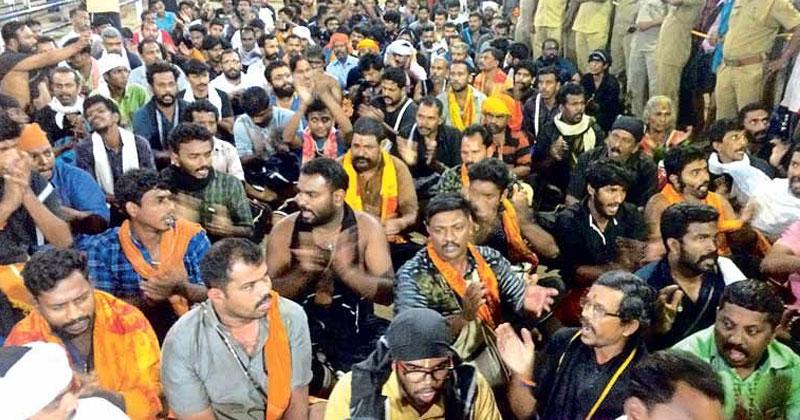 Sabarimala-68-protestors-arrested-remand