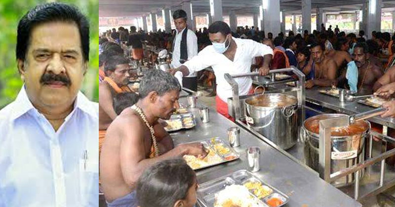 Sabarimala-Annadanam Ramesh-Chennithala