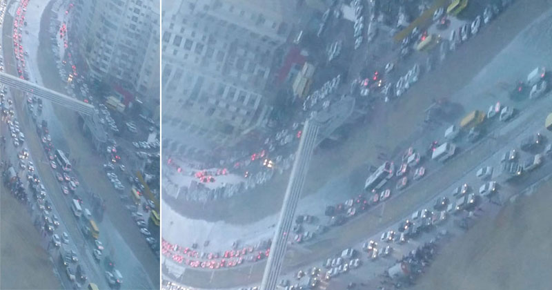 Traffic-snarls-in-Dubai