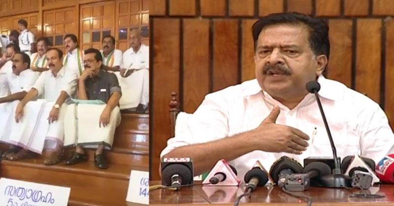 Ramesh-Chennithala-Protest-UDF