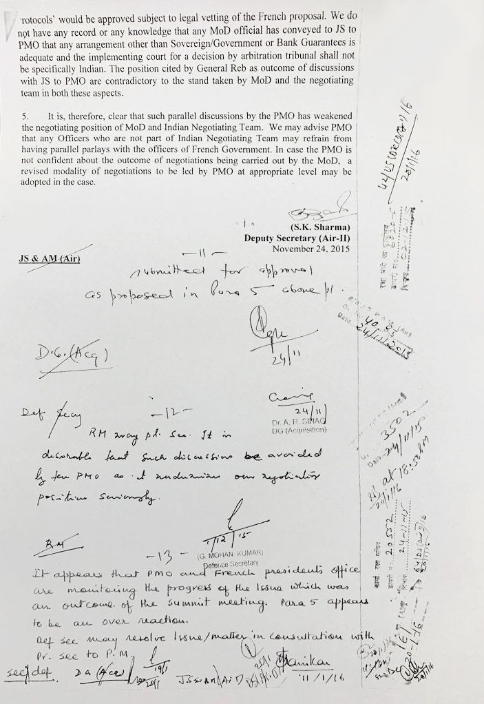 Letter Rafale deal