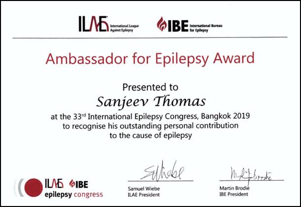 Ambassador of Epilepsi Award
