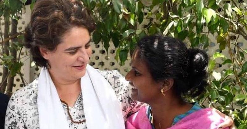 Priyanka Gandhi and Ramya Haridas